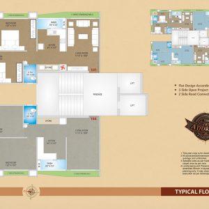 3 bhk Bunglow Plan in Vesu surat